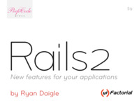 Cover of Rails 2: New features for your applications